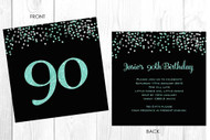 Personalised 90th birthday party invitation