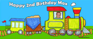 Train themed Birthday Party Backdrops, Banners & Posters