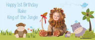 Jungle Animals Birthday Party Backdrops, Banners & Posters