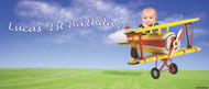 Party Banners - Aeroplane Happy Birthday Banner