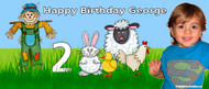 Party Banners - Farm Scarecrow Happy Birthday Banner