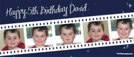 Custom kids birthday party banner for sale online. Made using multiple photos, Filmstrip Theme