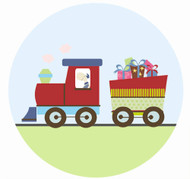 Train Party Spot Sticker Labels