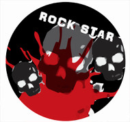 Rockstar Party Spot Sticker Labels