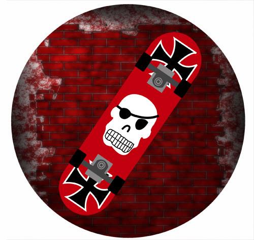 Buy Skateboard Party Labels Online Skate Board Printed Stickers