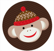 Red Sock Monkey Personalised Party Spots