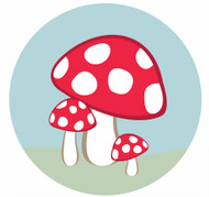 Toadstool Party Labels & Stickers