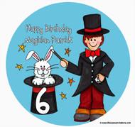 Magician Boy Birthday Cake Edible Image