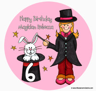 Magician Girl Birthday Cake Edible Image