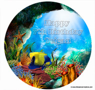 Under the Water Personalised Edible Image
