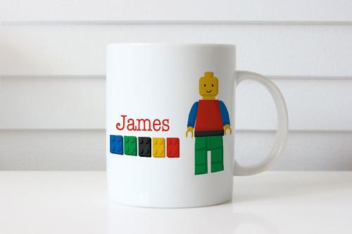 Boys Lego Building Blocks Personalised Mug