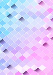 Photography Background - Pink & Blue Tiles