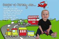 Transport Birthday Party Invitations
