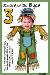 Cartoon Scarecrow Birthday Party Invitations