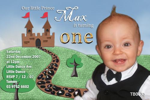 Prince & Castle Birthday Party Invitations