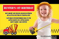 Construction Birthday Party Invitations