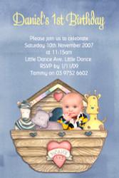 Noahs Ark First Birthday Party Invitations