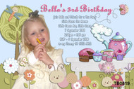 Alice In Wonderland Tea Party Birthday Party Invitations