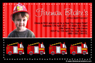 Fireman Birthday Party Invitations