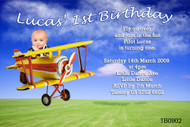 Flying High Birthday Party Invitations
