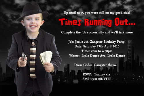 Themed Kids Birthday Party Invitations