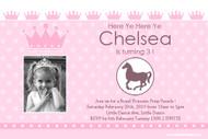 Royal Pony Princess Party Invitations