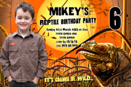 Reptile Party Birthday Party Invitation
