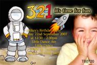 Spaceman Birthday Party Invitation