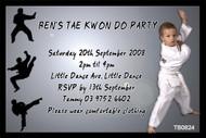 Tai Kwon Do Birthday Party Invitation
