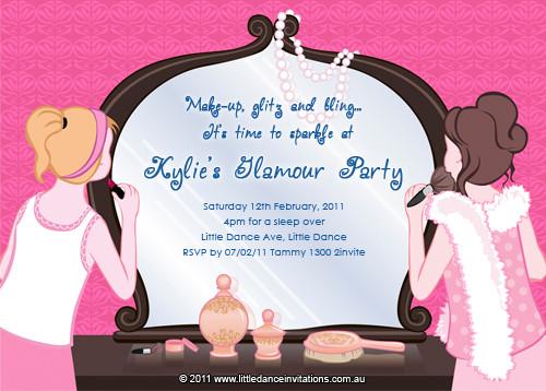 buy tween glamour party birthday invitations tween pamper party