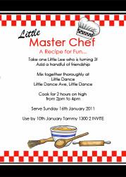 Masterchef Party Invitation