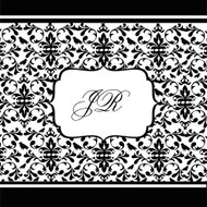 Black Damask Wedding Invitation