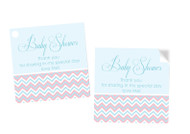 Baby Shower Gender Neutral Square Tags and Stickers