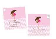 Pink Mum Baby Shower Labels Stickers and Tags - Personalised and printed in Melbourne Australia