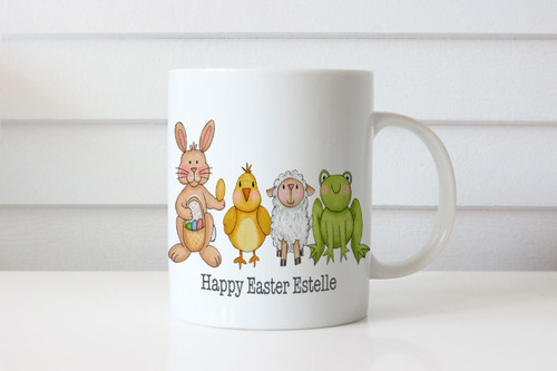Personalised coffee cup with name. Easter gift. Online mug maker Australia delivers to Melbourne, Brisbane, Sydney, Perth, Canberra, Adelaide