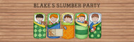 Boys Only Slumber Party Sleepover Party Personalised Banners