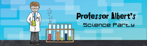 Kids Science Party Personalised Party Banners