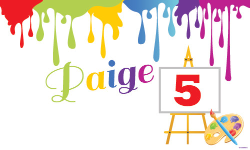 Kids Art Painting Personalised Birthday Party Banners
