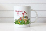 Custom personalised coffee mug with Easter egg hunt theme. Buy online in Australia. Adelaide, Melbourne, Sydney, Brisbane, Canberra delivery