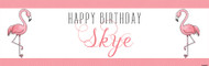 Pink Flamingo Party Personalised Kids Birthday Party Banners