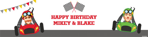 Go Karting Birthday Party Personalised Party Banners