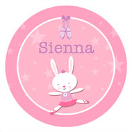 Ballet Bunny Personalised Birthday Party Labels & Stickers & Stickers
