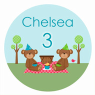 Teddy Bear Picnic Party Personalised Birthday Party Labels & Stickers & Stickers