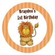 Lion Party Personalised Party Spot Stickers & Labels