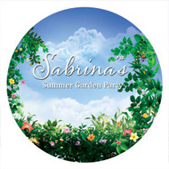 Summer Garden Party Personalised Party Spot Stickers & Labels
