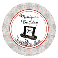 Mad Hatters Tea Party Personalised Party Spot Stickers & Labels