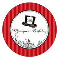 Queen of Hearts Party Personalised Party Spot Stickers & Labels