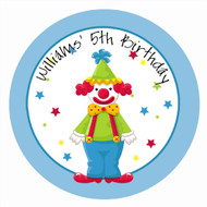 Clown Around Party Personalised Party Spot Stickers & Labels
