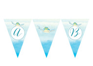 Sea Turtle Under the Sea Personalised Birthday Party Bunting Flags