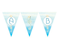 Seahorse Under the Sea Personalised Birthday Party Bunting Flags